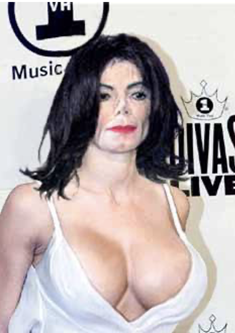 Michael Jackson with breasts